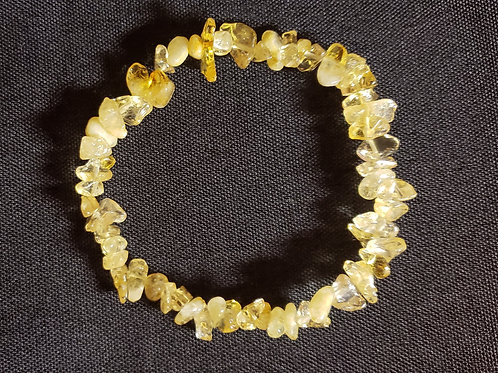 Citrine Bracelet (Cleanses aura, remove/block negative energy,reduce stress )