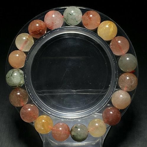 NATURAL Rutilated Quartz Bracelet (Cleanse aura, Remove negative energy, Healing
