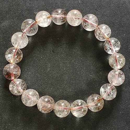 NATURAL Rutilated Quartz Bracelet (Cleanse aura, remove negative energy,healing)