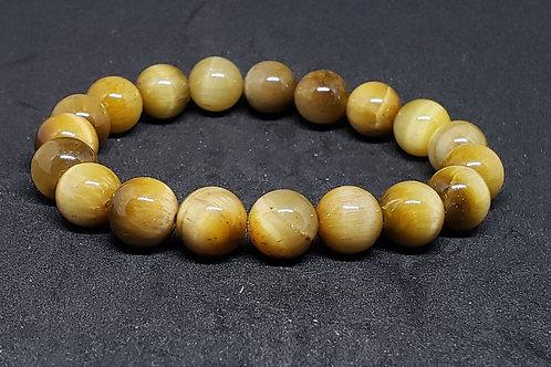 NATURAL LARGE Golden Tiger Eye Bracelet  (Calm Emotions,Decision & $ Making)