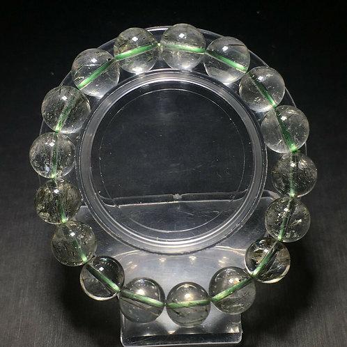 Green Rutilated Quartz Bracelet (Cleanse aura, remove negative energy,healing)