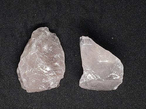 NATURAL 2 Rose Quartz Crystals (calm emotions,increase popularity,he