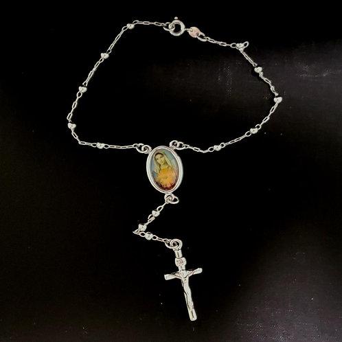 18k White Gold Filled Praying Bracelet