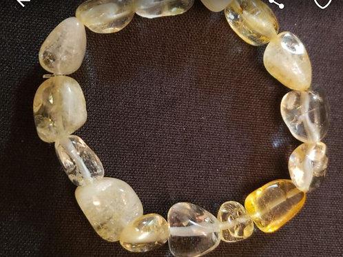 Citrine Bracelet (Cleanse aura, remove/block negative energy, reduce stress)
