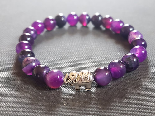 NATURAL Agate Bracelet(protection,cleanses aura,remove negative energy,healing)