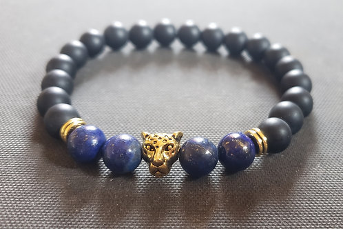 Lapis lazuli & Onyx Bracelet (protection,Block & remove negative energy,healing)
