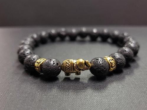 Elephant Lava Rock Oil Essential Bracelet (protection,healing, health benefits)