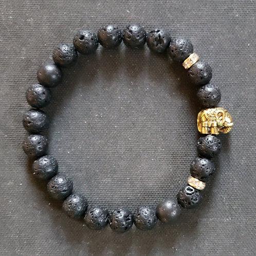 NATURAL Lava Rock Oil Essential Bracelet(master healer,protection,calm emotions)