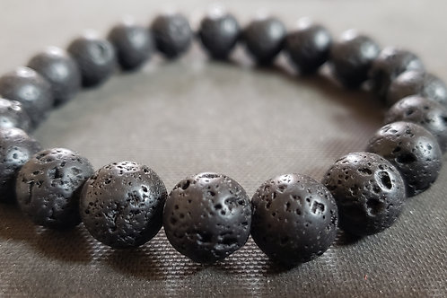 NATURAL Lava Rock Bracelet(calm emotions, Health Benefits - See photos)
