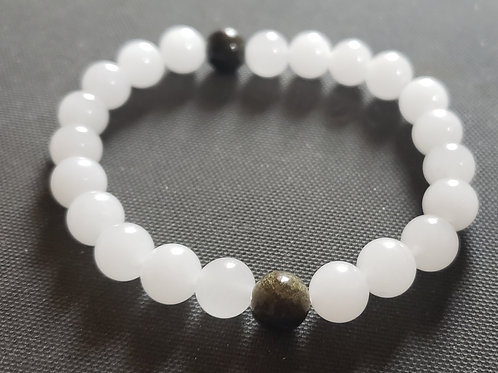 NATURAL Golden Obsidian Jade Bracelet (Romove Negative Energy,calm emotIons)