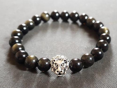 NATURAL Golden Obsidian Bracelet (Romove Negative Energy,calm emotIons)