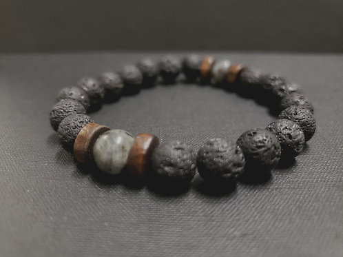 Lava Rock Oil Essential Bracelet (healing, health benefits-SEE PHOTOS)