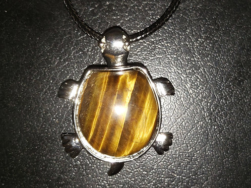 NATURAL Tiger Eyes Turtle Necklace (protection, $ Making,Remove Negative Energy