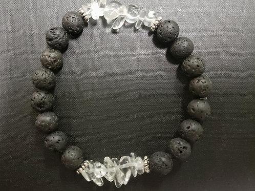 NATURAL Crystal Lava Rock Bracelet(healing,positive energy,health benefits