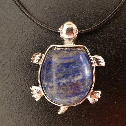 NATURAL Lapis lazuli Turtle Necklace (healing, protection,reduce stress)