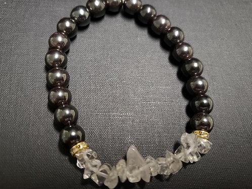 Hematite Crystal Bracelet(Calm emotiions, help Blood Circulation & Pressure,Arth