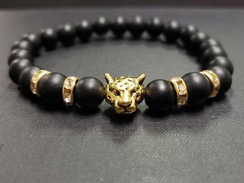 Leopard Onyx Bracelet(Remove Negative Energy,Calm Emotions,Reduce Stress & Anger