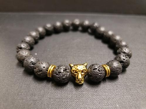 Leopard Lava Rock Oil Essential Bracelet(healing, calm emotions, health Benefit
