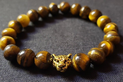 Grade AAA Tiger Eye Bracelet (Help decision & $ Making, healing, calm emotions)