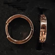 18k Rose Gold Filled Hook Earrings - size: 16 mm