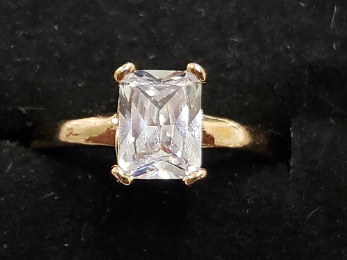 18K Gold Filled Crystal Ring - size 7