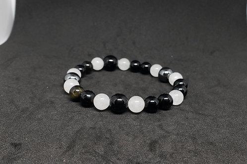 Charged Gold Obsidian,Jade,Hematite Bracelet(protection,remove negatively,healer