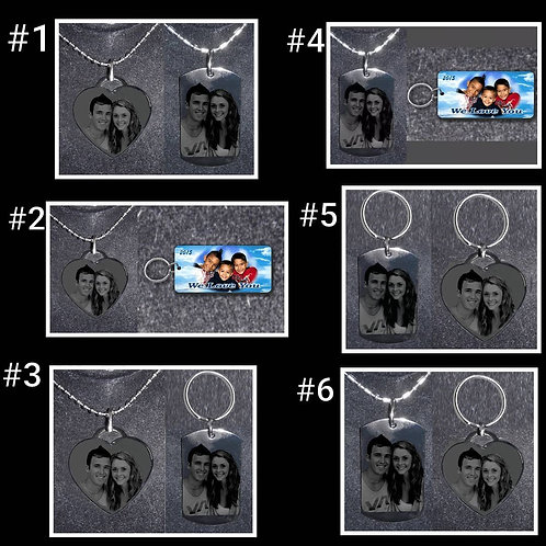 Personalized item (2 pieces - different photos)