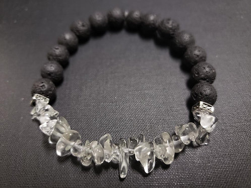 Crytal Lava Rock Oil Essential Bracelet (healing,calm emotions,health benefits)