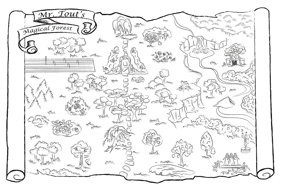 The map of Mr. Tout's Magical Forest, by Kim Kittleson.