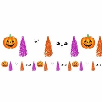 Halloween Friends Tassel Garland