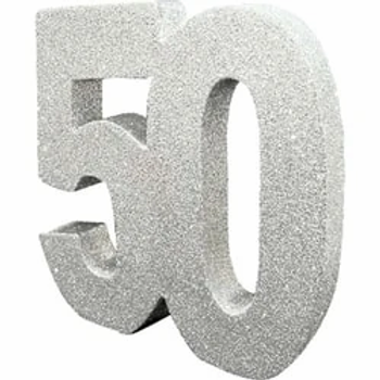 50th Table Centrepiece Silver
