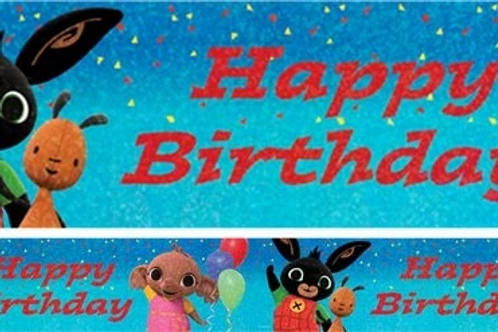 Bing Happy Birthday Holographic Foil Banner