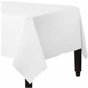 Plastic Lined Paper Tablecovers White