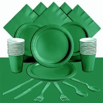 Green Tableware Party Pack