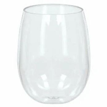 Clear Plastic Stemless Wine Glasses