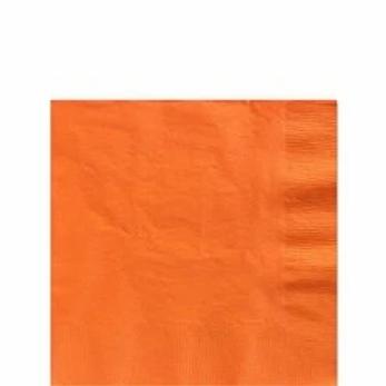 Orange Paper Napkins Size 33cm