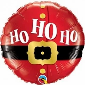 """Ho Ho Ho Santa's Belt Round Shape 18"""" Foil Balloon"""
