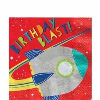 Blast Off Birthday Party Napkins