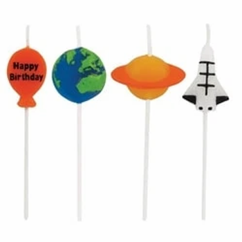 Space Blast Novelty Party Cake Candles