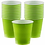 Party Cups Size 473ml Lime Green