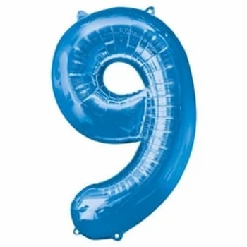 "34"" Foil Number 9 Balloon Blue"