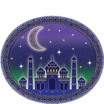 Eid Oval Paper Plates