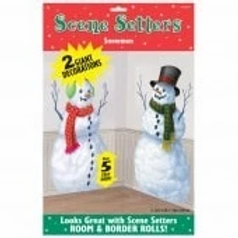 Snowman Scene Setter Decorations