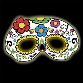 Floral Glow Stick Mask