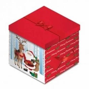 Santa & Reindeer Square Gift Box