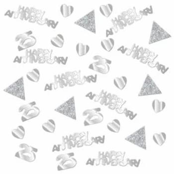 25th Wedding Anniversary Table Confetti