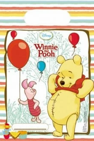 Winnie The Pooh Party Bags Pk Of 6