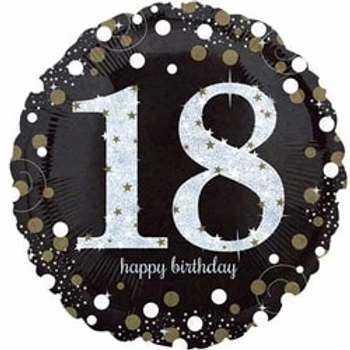 18th Birthday Gold Sparkling Celebration Foil Balloon