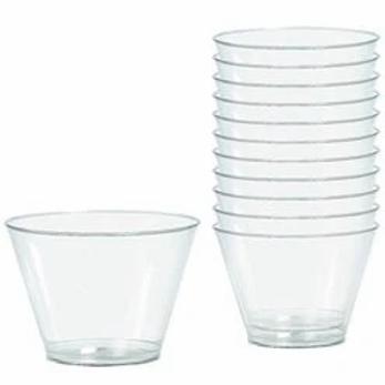Clear Plastic Tumbler Glasses Size 255ml