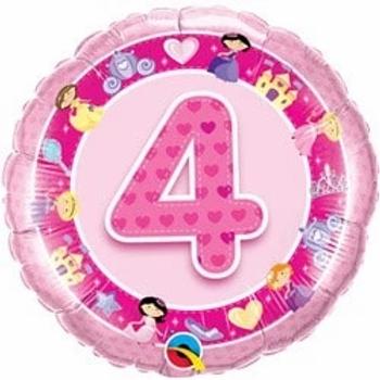 """Age 4 Pink Fairies 18"""" Foil Balloon"""